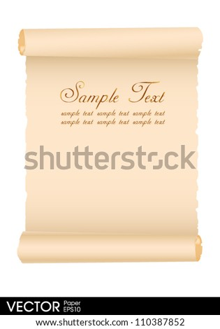 old paper vintage - stock vector