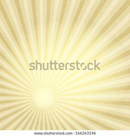 Old paper with gold translucent rays (vector EPS 10) - stock vector