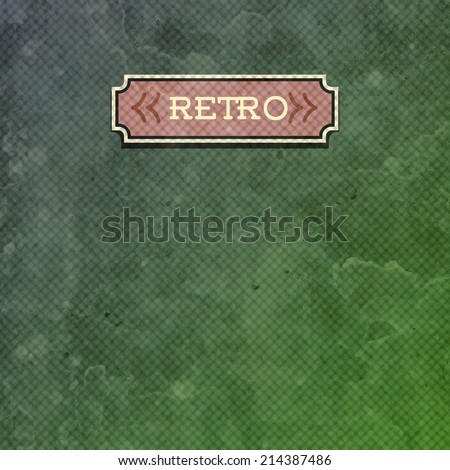 Old paper with label. Vector illustration - stock vector