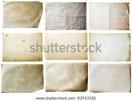 old papers set - stock vector