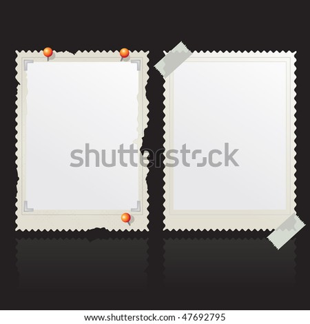 old photo frame - stock vector