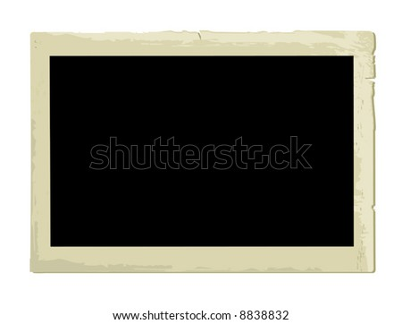 Old Photo Frame (vector). In the gallery also available XXL jpeg image made from this vector - stock vector