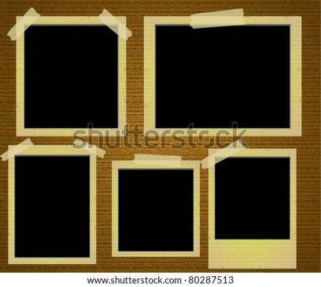 Old Photo Frames Vector - stock vector