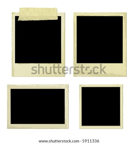Old Photo Frames (vector). In the gallery also available XXL jpeg image made from this vector - stock vector