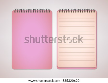 Old Pink Notebook Vector - stock vector