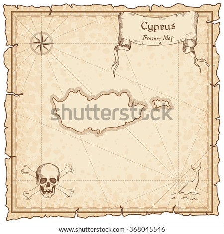 Tattered blank pirate treasure map stock illustration for Pirate scroll template