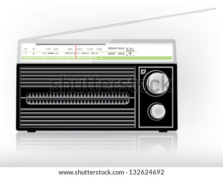 Old radio - stock vector
