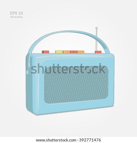 Old Radio  Illustration - stock vector