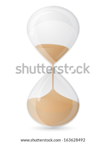 old retro hourglass vector illustration isolated on white background