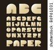 Old Retro Paper Alphabet - stock vector