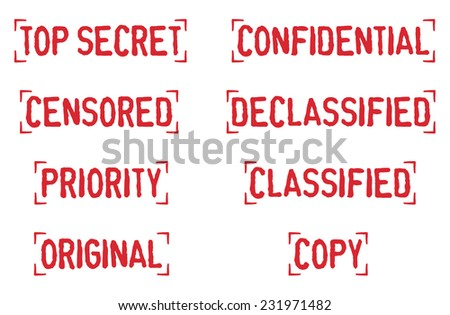 Old Rubber Stamp Collection 05 - stock vector