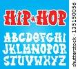 Old school graffiti vector font set - stock vector