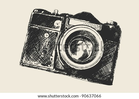 old school photography - stock vector