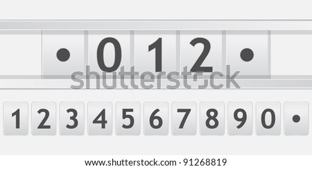 old scoreboard with numbers - stock vector