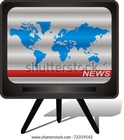 old scrambled tv - stock vector