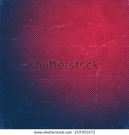 Old scratched paper card with halftone gradient  - stock vector