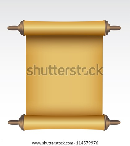 Old scroll. Vector - stock vector