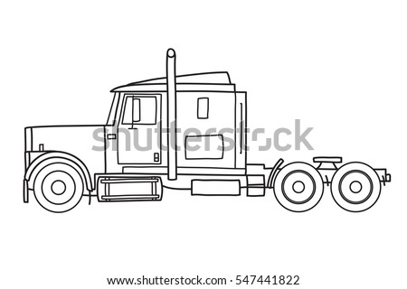diagram of truck big rig