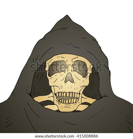 old skull mask - stock vector