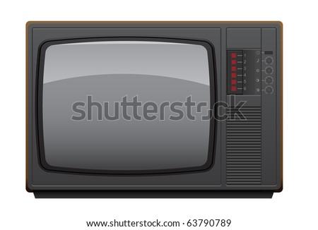 Old Soviet TV set. Realistic vector illustration. - stock vector