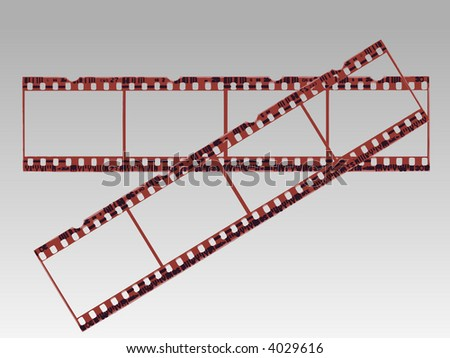 Old style film strip (Transparent Vector format so they can be overlaid on other images)