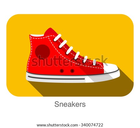 old style sport sneakers shoe  - stock vector