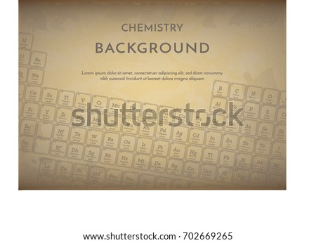old style vintage background with periodic table of the elements - Periodic Table Of Elements Vintage