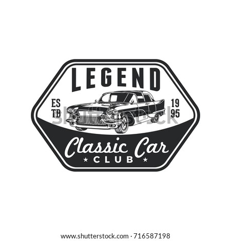Old Style Vintage Classic Car Vector Stock Vector 716587198