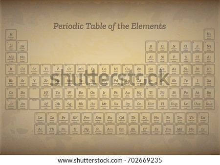 Old style vintage periodic table elements stock vector 702669235 old style vintage periodic table of the elements urtaz Image collections