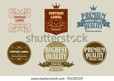 old style vintage sticker - stock vector