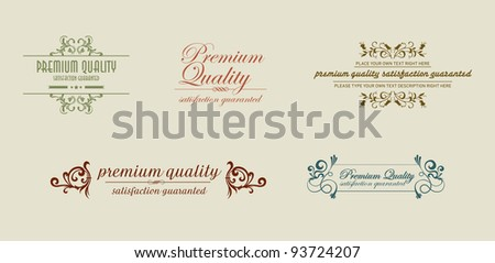 old style vintage with ornaments - stock vector