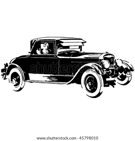 old timer car vector illustration - stock vector