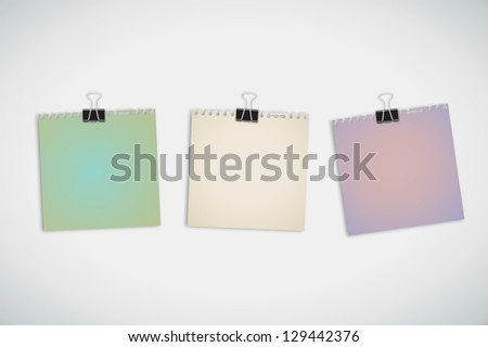 Old Torn Color Paper Vector - stock vector