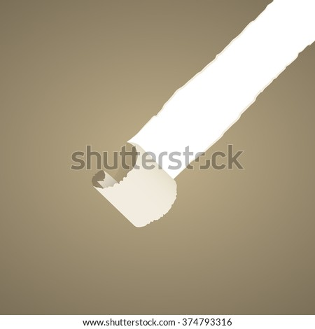 Old torn paper background  - stock vector