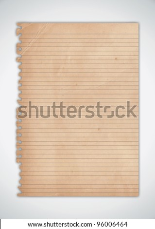 Old Torn Paper Texture Vector - stock vector