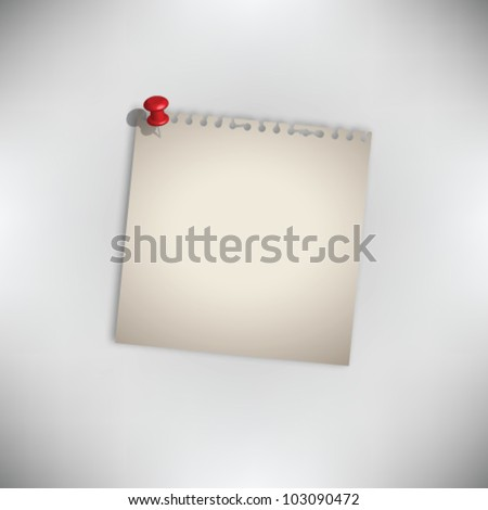 Old Torn Paper Vector - stock vector