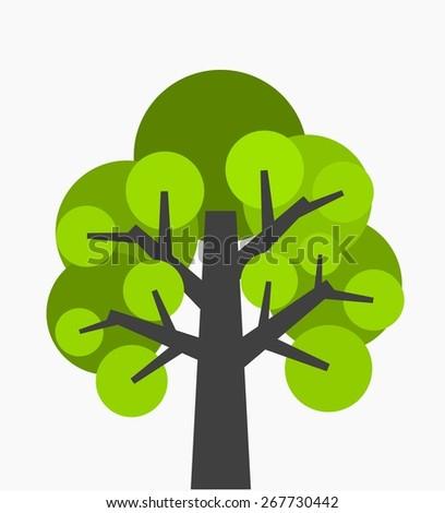 Old tree. Vector illustration - stock vector
