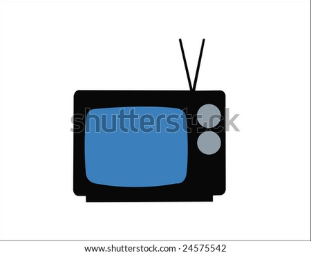 old tv - stock vector