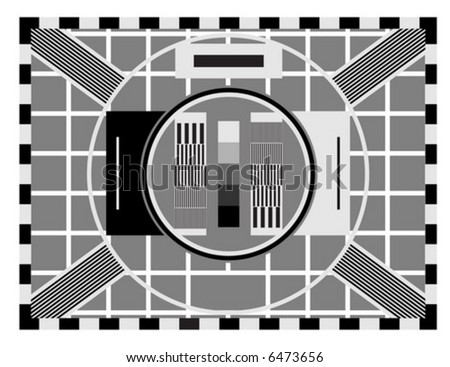 Old TV test screen - stock vector