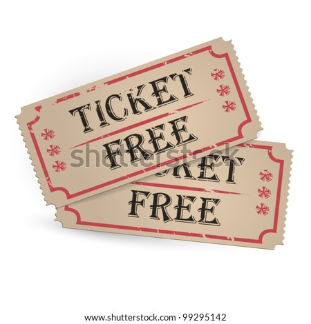 Old Vector vintage paper tickets