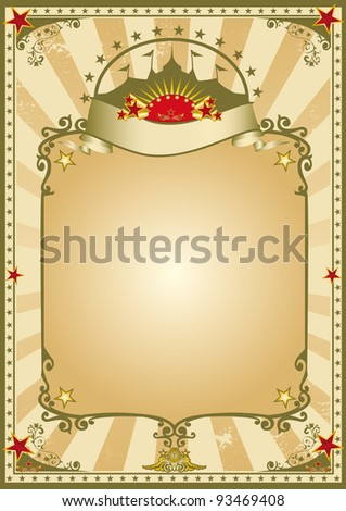 old vintage circus. An old vintage poster for your advertising. - stock vector
