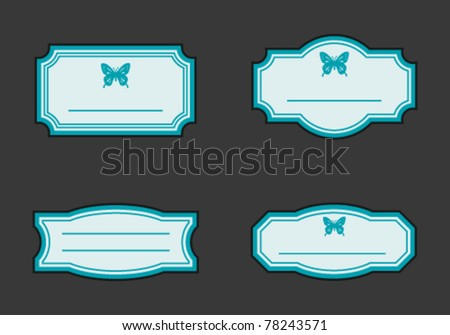 Old vintage frames set - stock vector