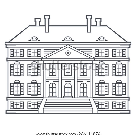 Old vintage house, vector illustration - stock vector