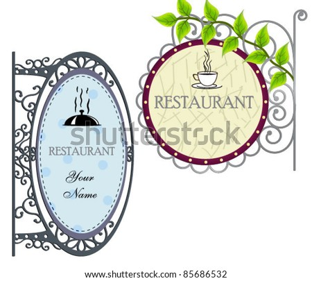 Old vintage signboard. - stock vector