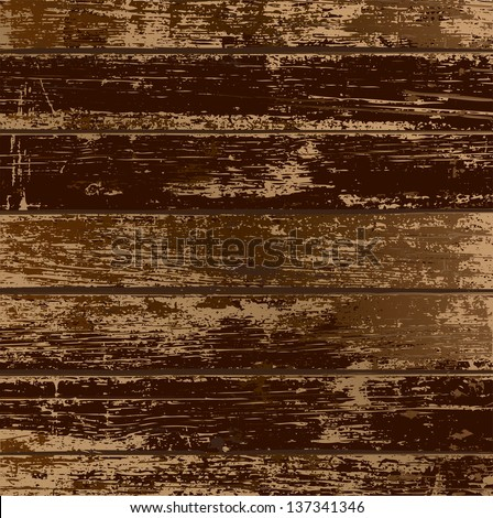 Old wood painted white - stock vector
