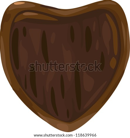 Old wooden shield - stock vector