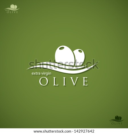 Olive label - vector illustration - stock vector