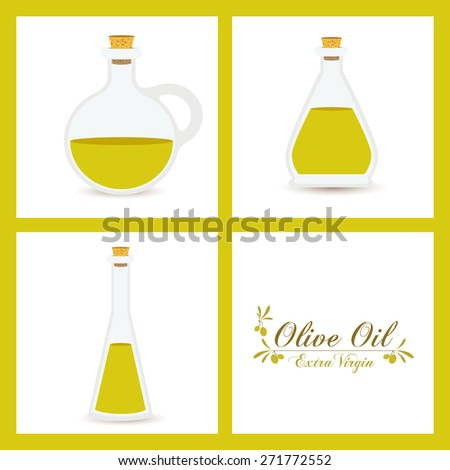 Olive oil design over white background, vector illustration - stock vector