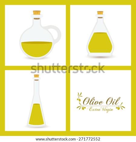 Olive oil design over white background, vector illustration - stock vector