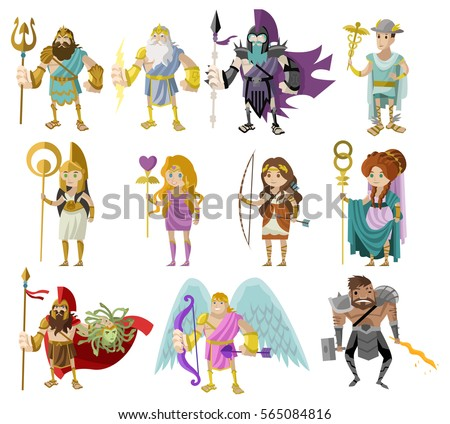 the three main gods in greek mythology Apart from these three brothers, there were eleven major gods and goddesses and several minor ones major gods zeus was the king of gods, and the god of honor, hospitality, justice, lightning and the skies.